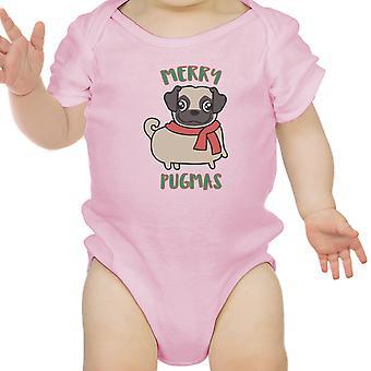 Merry Pugmas Pug Baby Bodysuit Funny Christmas Baby Clothing Gifts