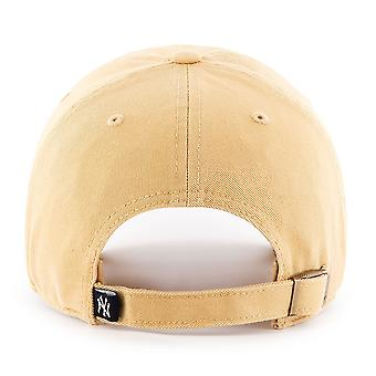47 Brand MLB NY Yankees Clean Up Cap - Light Tan