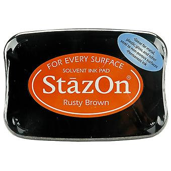 Stazon Solvent Ink Pad-Rusty Brown