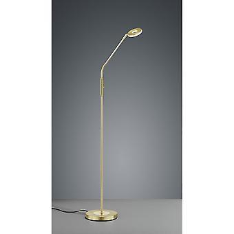 Trio Lighting Michigan Modern Brass Matt Metal Floor Lamp