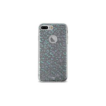 Puro iPhone 8/7/6/6S Plus, Glitter Shine Leo Cover, regnbåge