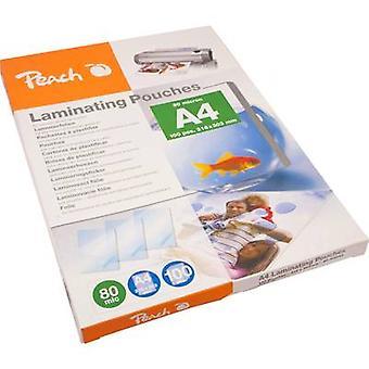 Laminate sheet Peach A4 80 micron glossy