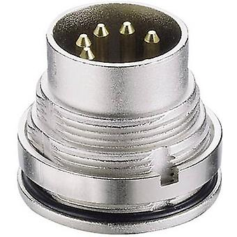 Lumberg 0315 04 DIN connector Plug, vertical mount Number of pins: 4 Silver 1 pc(s)