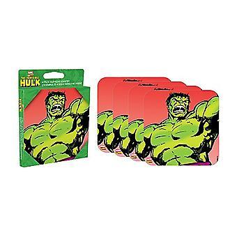 Incredible Hulk Set Of 4 Neoprene Drinks Coasters