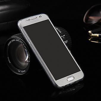 Crystal Case Hülle für LG G4 Grau Rahmen Full Body