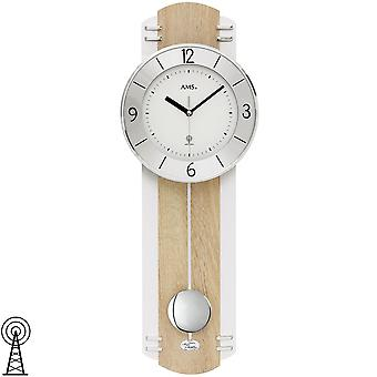 Wall clock radio radio controlled wall clock with pendulum clock pendulum wooden Sonoma optics