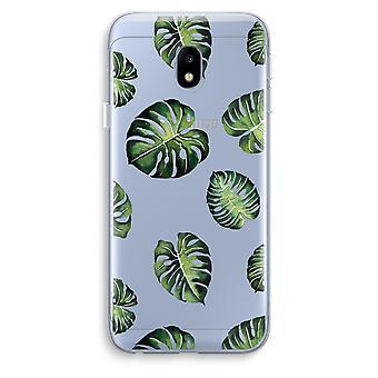 Samsung Galaxy J3 (2017) Transparent Case (Soft) - Tropical leaves