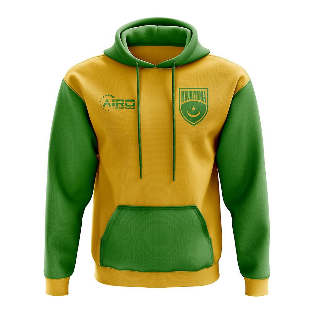 Mauritanie Football de Concept pays Sweat à capuche (jaune)