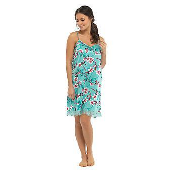 Las señoras Tom Franks llano y estampado Floral de manga corta camisón camisón camisón