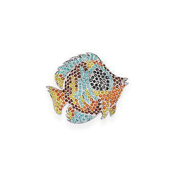Multicolor Brosche mit Kristallen von Swarovski 7111
