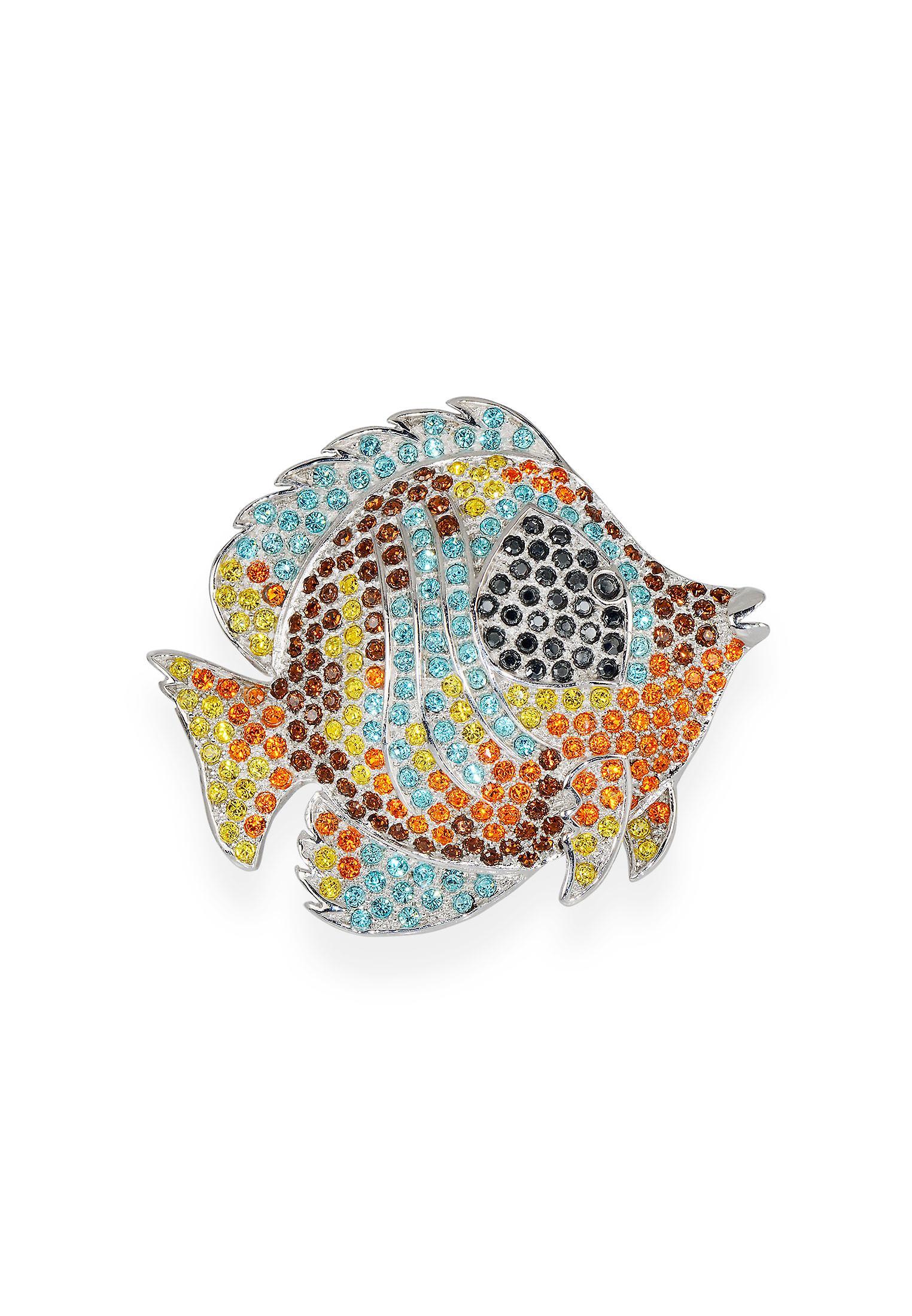 Broche multiCouleure avec des cristaux de Swarovski 7111