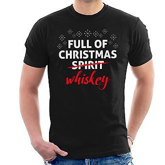 Está cheio de homens de uísque de Natal camiseta