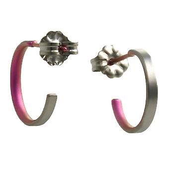 Ti2 Titanium Small Hoop Earrings - Candy Pink
