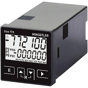 Hengstler tico 772 24 V/AC 2R Multifunctional counter tico 772772 24 V/AC 2R Assembly dimensions 45 x 45 mm