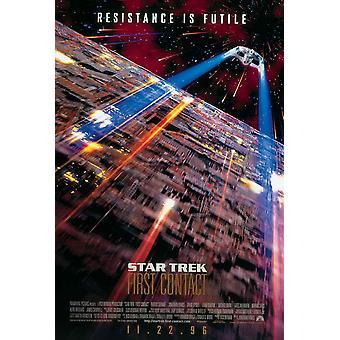Star Trek primer contacto Movie Poster (11 x 17)