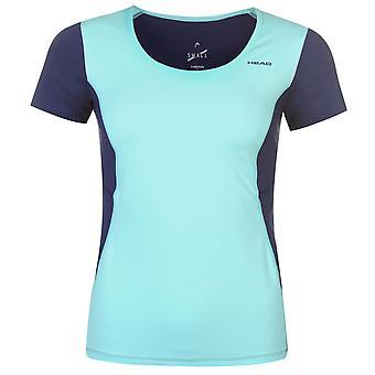 HEAD Womens prestanda W T Shirt Kortärmad Tee Top utjämnade rund hals