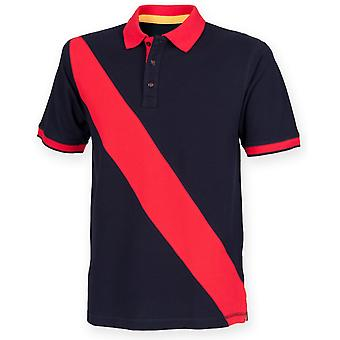 Front Row Childrens/Kids Diagonal Stripe Short Sleeve Polo Shirt