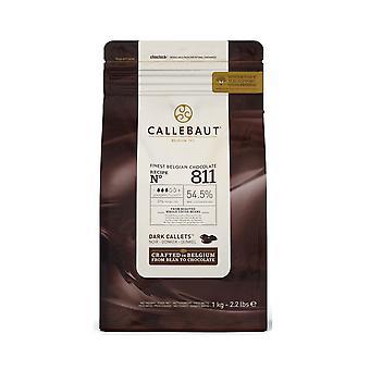 Callebaut 54 % dunkle Schokolade '811' Callets