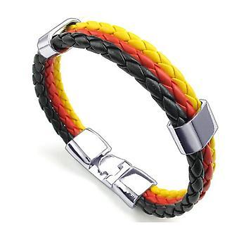 Tressé tricolore allemand poignet unisexe Bracelet pour les célébrations nationales - par TRIXES