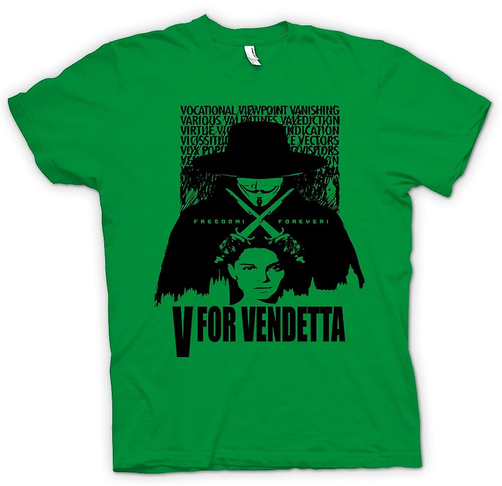 Mens t-shirt-V per Vendetta - grande fratello - film