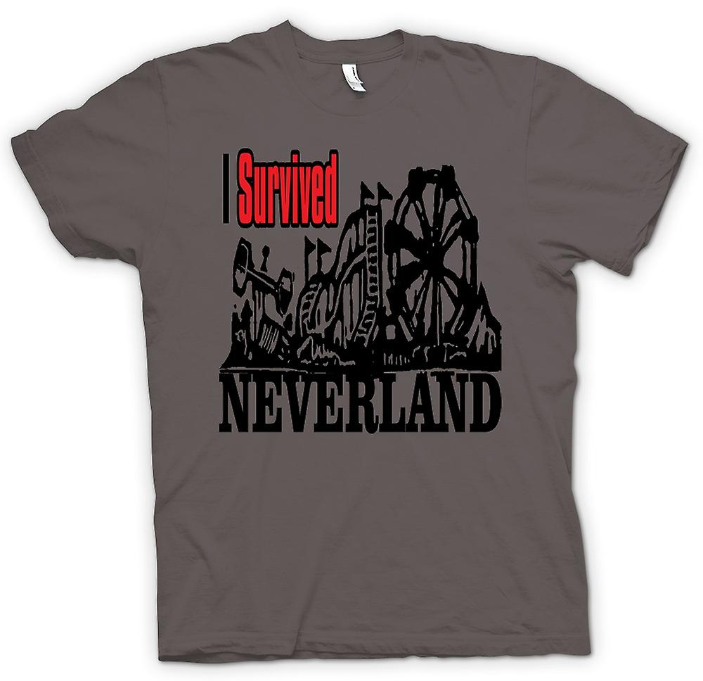Womens T-shirt - I Survived Neverland - Funny