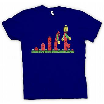 Herr T-shirt - Zombie Lego - roliga skräck