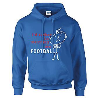 Menns jeg vil heller se på fotball hettegenser kongeblå Hoody