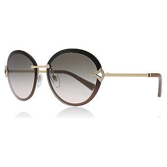 Bvlgari BV6101B 20373B mat brun BV6101B Oval solbriller linse kategori 2 størrelse 61mm