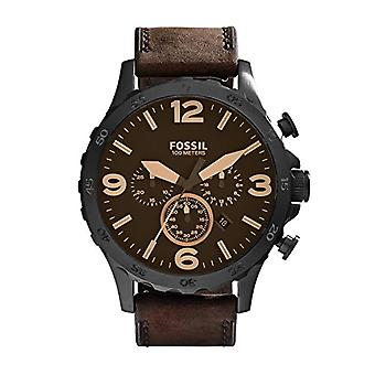 Fossil Analog Men with leather strap JR1487