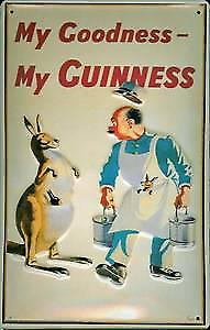 Guinness Kangaroo Embossed Metal Sign   (hi 3020)