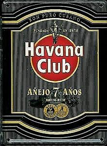 Havana Club Rum (black) metal postcard / mini-sign