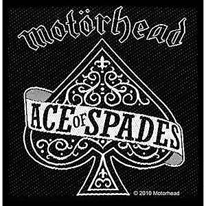 Motorhead Ace of Spades iron-on / sew-on patch  (mm)