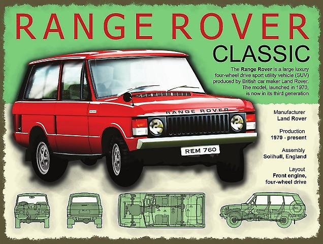 Range Rover Classic metal sign   (og 4030)
