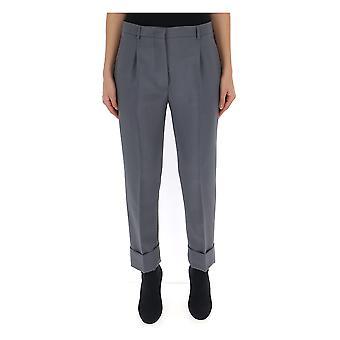 Prada Grey Silk Pants