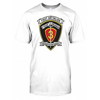1st Battalion Third Marines Insignia - Fortes Fortuna Juvat Mens T Shirt