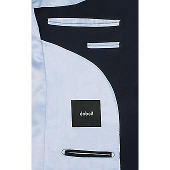 Dobell Mens Navy Suit Jacket Regular Fit Travel/Performance Notch Lapel