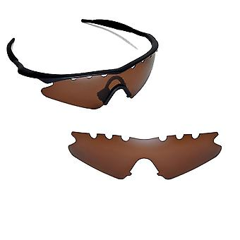 VENTED M Frame Sweep Replacement Lenses Polarized Brown by SEEK fits OAKLEY