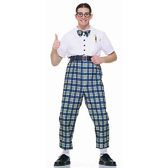 Class Nerd Ned Nerdy Geek 1950s Olden Day School Boy Funny Party Mens Costume