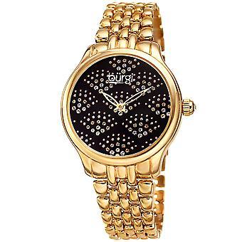 Burgi Women's BUR205 Swarovski Crystal Diamond Sparkle Bracelet Watch BUR205YGB