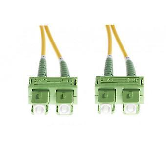 Câble duplex à fibre optique SC/APC-SC/APC Os1/, monomode