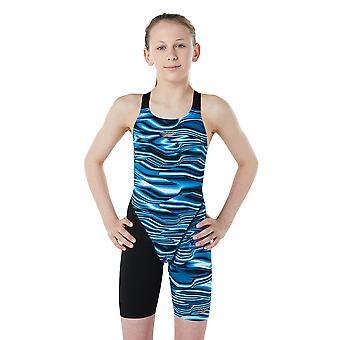سبيدو Fastskin جونيور التحمل + في الظهر ملابس السباحة في الركبة للبنات