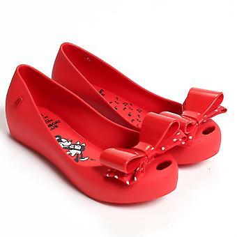 Melissa Chaussures enfants Ultragirl Minnie Mouse Bow pompes, rouge