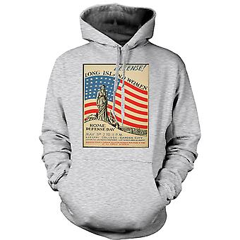 Kids Hoodie - Long Island Women - Vintage - War