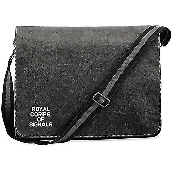 Royal Corps Of Signals Text - Licensed British Army Embroidered Vintage Canvas Unpatch Messenger Bag Royal Corps Of Signals Text - Licensed British Army Embroidered Vintage Canvas Unpatch Messenger Bag Royal Corps Of Signals Text - Licensed British Army Embroidered Vintage Canvas Unpatch Messenger Bag Royal Corps
