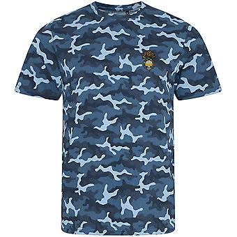 Royal Welsh Fusliers - Licensed British Army Embroidered Camouflage Print T-Shirt
