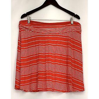 Merona Plus Skirt Stretch Waistband Red / White Womens