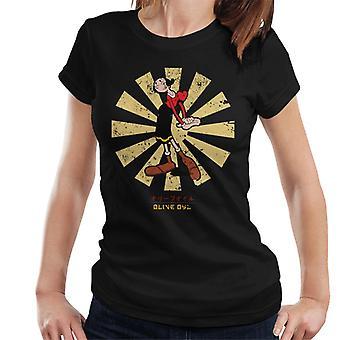 Olive Oyl Retro Japanese Popeye Women's T-Shirt