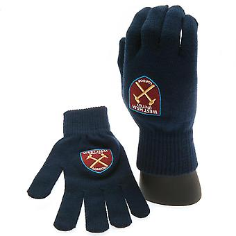 West Ham United FC Unisex Adults Knitted Gloves