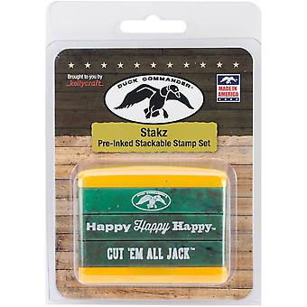 Duck Commander Stakz Green/Yellow Stamp Set 2