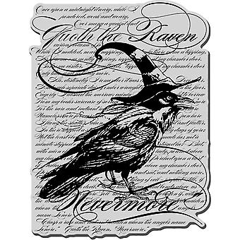 Stampendous Halloween Cling stempel Raven achtergrond Crr152